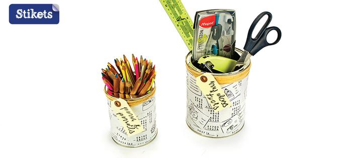 Latas recicladas decoupage. Regalos para profes