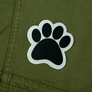 Animal Footprint Iron-On Patch