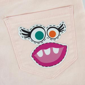 Monster Girl Iron-On Patch