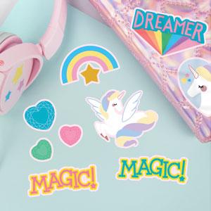 Unicorn and Rainbow Stickers